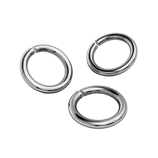 KC-0,80x2,40 - Open jump rings, sterling silver 925