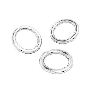KC-1,00x3,30 (KC-11) - Open jump rings, sterling silver 925