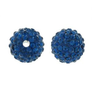 DISCOBALL BEAD CAPRI BLUE 10 MM