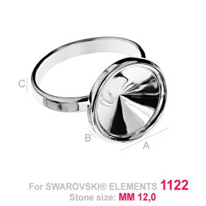 Ring setting for Rivoli - OKSV 1122 12MM S-RING ver.2