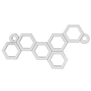 Honeycomb silver pendant connector, silver 925, LK-0348 - 0,50