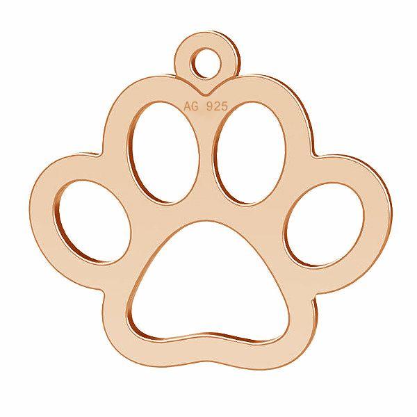 Dog paw pendant, silver 925, LK-0365 - 0,50