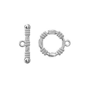 ZAM 17 14,1x17,3 mm, Round toggle clasps, sterling silver 925