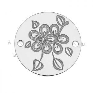 LK-0502 - Plate connecting with flowers