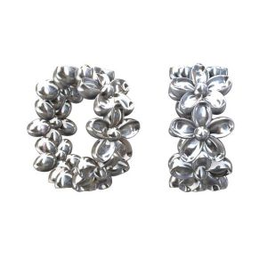 Spacer with flowers - ODL-00065 3,3x7,4 mm