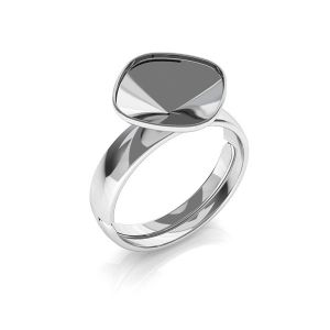 Swarovski ring base*sterling silver 925*U-RING ver.B OKSV 4470 10 mm (4470 MM 10)