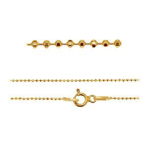 Ball chain rhodium or gold plated CPLD 1,0 (42-60 cm) AU/RH