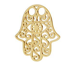 Fatima hamsa hand gold 14K pendant LKZ-00001 - 0,30 mm