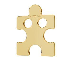 Puzzle gold 14K pendant LKZ-00003 - 0,30 mm