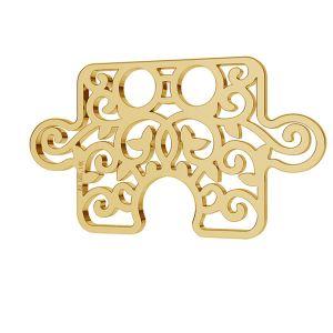 Puzzle openwork gold 14K pendant LKZ-00005 - 0,30 mm