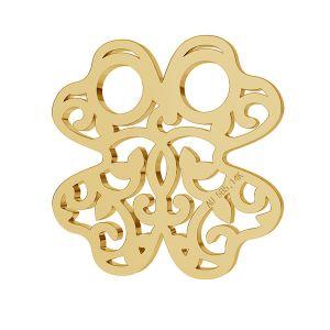 Clover openwork gold 14K pendant LKZ-00006 - 0,30 mm