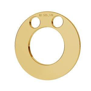 Ring pendant gold 14K LKZ-00010 - 0,30 mm