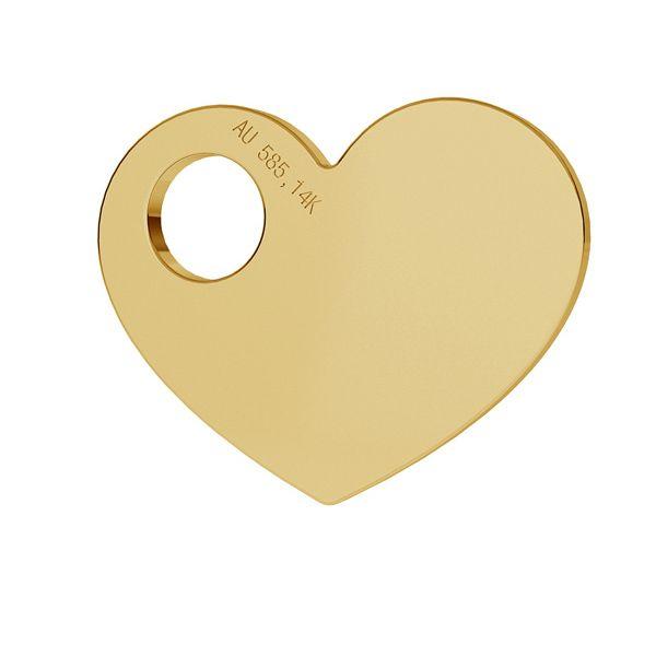 Heart gold 14K pendant LKZ-00014 - 0,30 mm