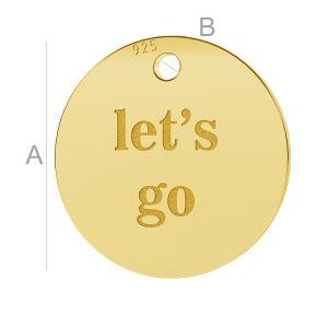 Let's go round pendant, LK-0652 - 0,50