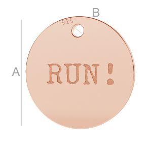 RUN! round pendant, LK-0655 - 0,50