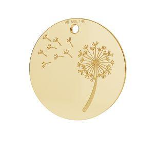 Dandelion pendant gold 14K LKZ-00480 - 0,30 mm