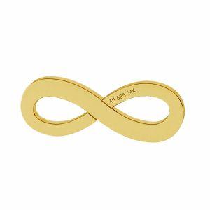 Infinity sign pendant gold 14K LKZ-00325 - 0,30 mm