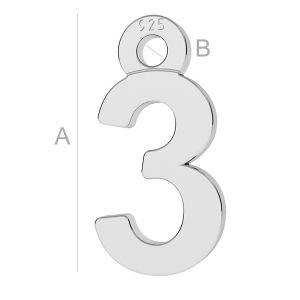 Silvexcraft digit number 3 pendant lk 0708 050 silvexcraft digit number 3 pendant lk 0708 050 mozeypictures Images