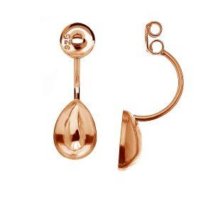 Ear jacket earrings base for Pear Fancy stones OKSV 4320 MM 10 BAR1