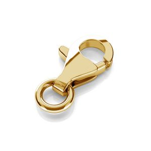 Clasp 8 mm with jumpring gold 14K CHPZ 8,0 SET