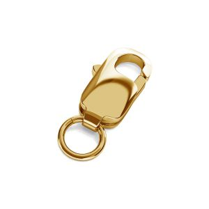 Lobster clasp 8mm with jumpring gold 14K CHRZ 8,0 SET