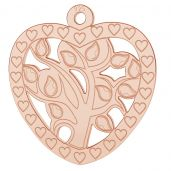 Heart tree pendant, LK-0778 - 0,50