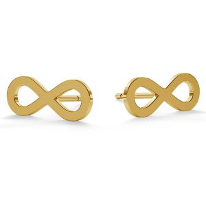 Infinity post earrings gold 14K LKZ-00589 KLS - 0,30 mm