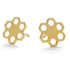 Flower post earrings gold 14K LKZ-00668 KLS - 0,30 mm