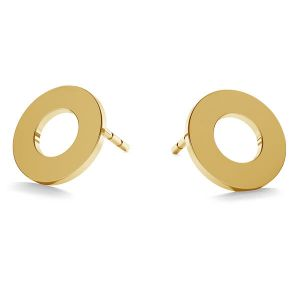Round post earrings gold 14K LKZ-00671 KLS - 0,30 mm