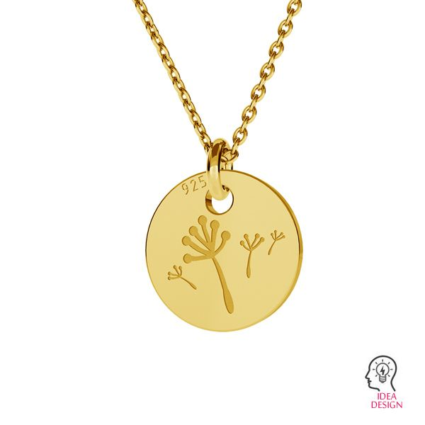 Dandelion pendant, LK-0882 - 0,50