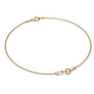 Gold bracelet base S-BRACELET 1 - (7+7 cm) AU 585 14K