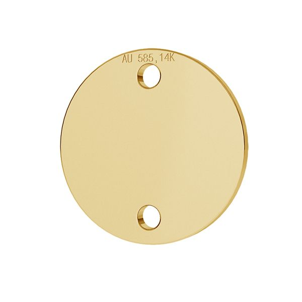 Round tag pendant gold 14K LKZ-00094 - 0,30 mm