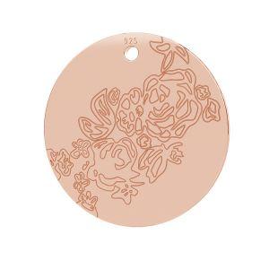 Rose pendant, LK-0745 - 0,50