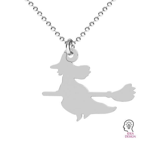 Witch halloween pendant, LK-1022 - 0,50
