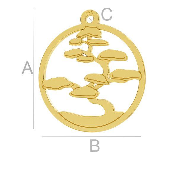 Bonsai tree pendant, LK-1033 - 0,50