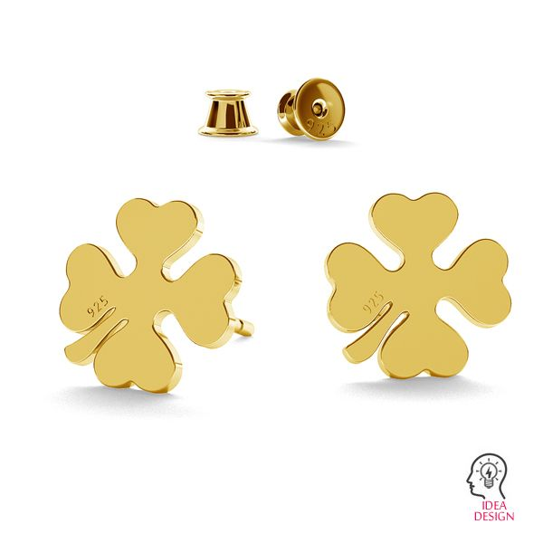 Clover earrings LK-1171 - 0,50 - KLS