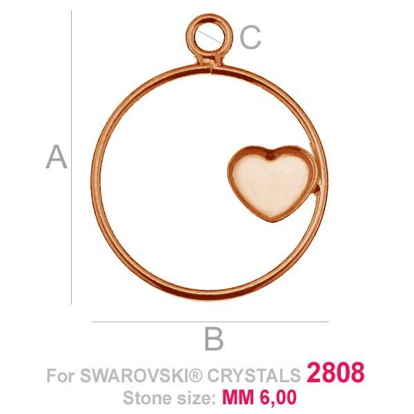 Heart 6mm Swarovski base HKSV 2808 MM 6 CON1 KCL 0,9x2,0