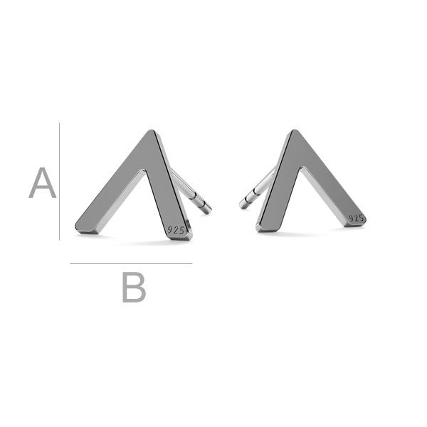 V shape earrings LK-1213 - 0,50 - KLS
