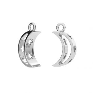 Moon pendant, sterling silver 925, ODL-00303