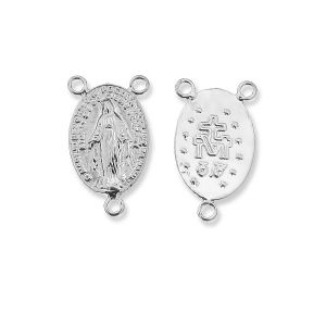 Rosary connector, sterling silver 925, W-57