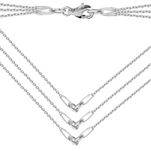 Base for necklaces, sterling silver 925, S-CHAIN 15 (A 030)