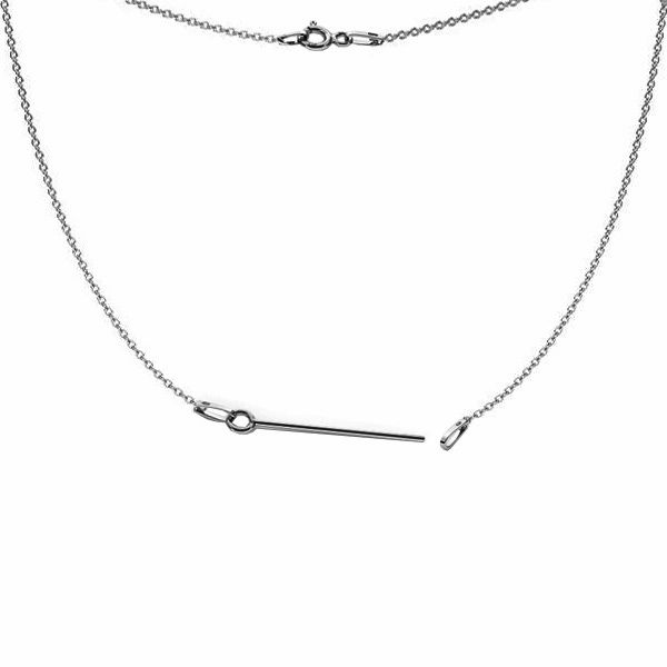 Base for necklaces, sterling silver 925, S-CHAIN 20 (A 030)