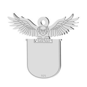 Light bulb pendant, sterling silver 925, LK-1371 - 0,50