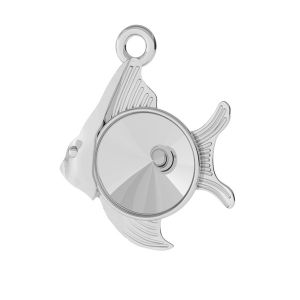 Fish pendant Swarovski base, sterling silver, ODL-00363 (1122 SS 39)