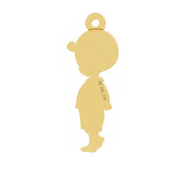 Boy gold pendant, AU 585 14K, LKZ-01284 - 0,30