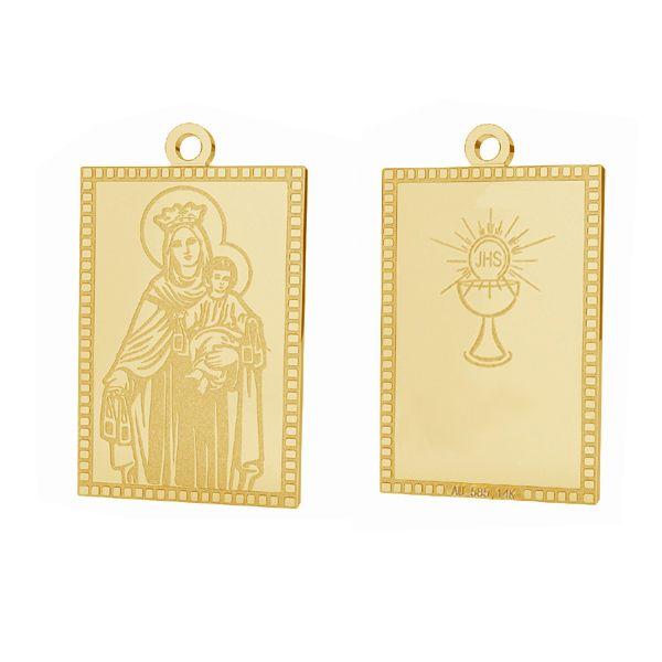 Our Lady gold pendant, AU 585 14K, LKZ-01373 - 0,30