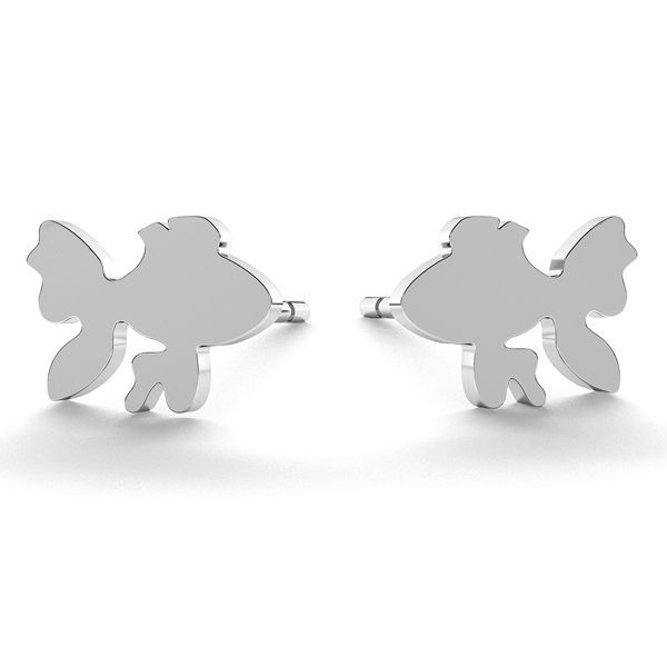 Fish earrings, sterling silver 925, LK-0615 KLS - 0,50