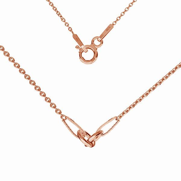 Necklace base, sterling silver 925, S-CHAIN 2 (A 030) - 35 cm