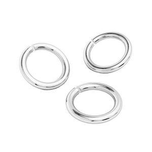 KC-0,80x4,25 - Open jump rings, sterling silver 925