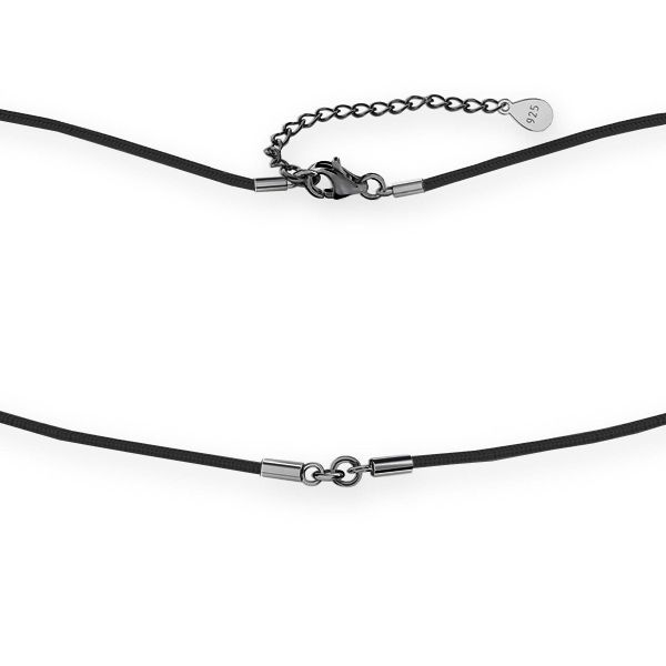 Cord base for necklaces, sterling silver 925, S-CHAIN 22